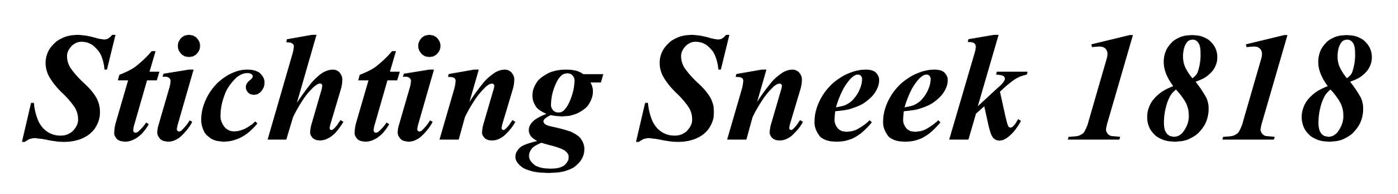 STICHTING SNEEK VAN WELEER | Stichting Sneek 1818